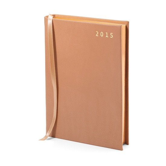 A6 Day per Page Italian Leather Diary in Smooth Deer from Aspinal of London