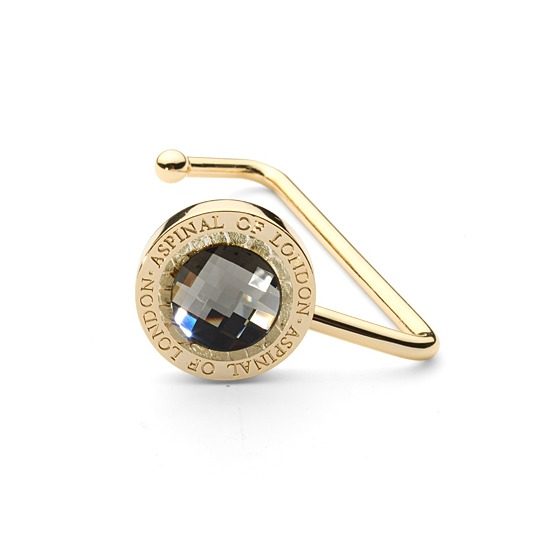 Aspinal Handbag Hook in Gold Snake Leather & Clear SWAROVSKI ELEMENTS from Aspinal of London