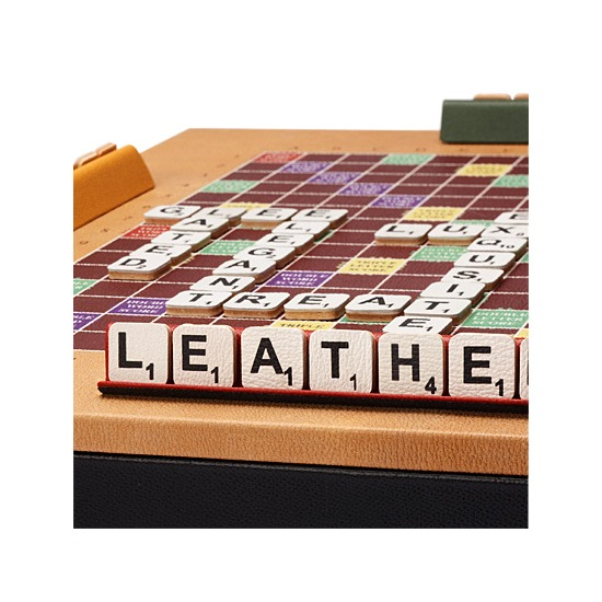 Scrabble Set in Camel Jewel Calf from Aspinal of London