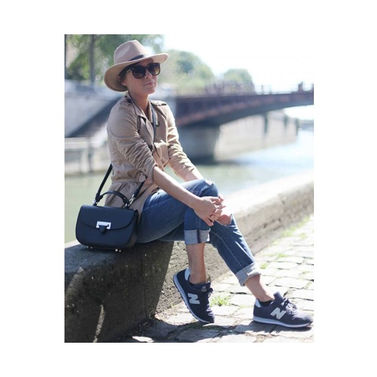 Letterbox Saddle Bag in Grey Nubuck Croc from Aspinal of London