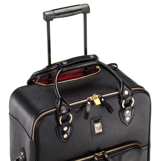Large Cabin Case in Black Pebble from Aspinal of London