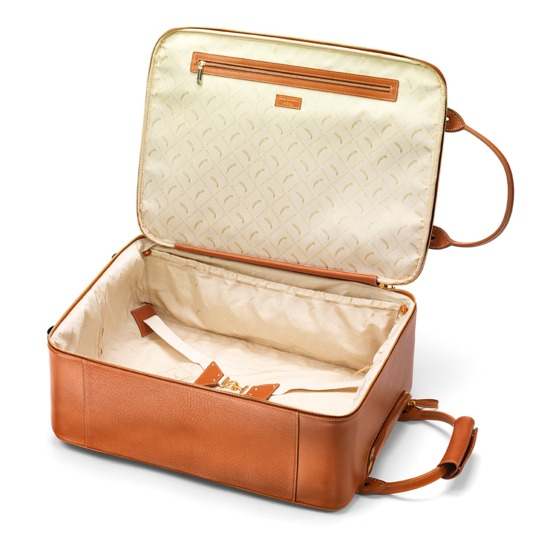 Large Cabin Case in Tan Pebble from Aspinal of London