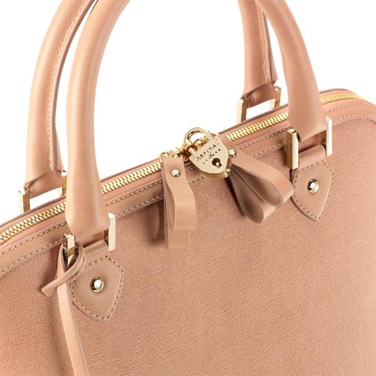 Hepburn Bag in Deer Saffiano from Aspinal of London