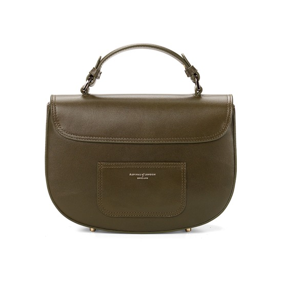 Letterbox Saddle Bag in Smooth Moss Green from Aspinal of London