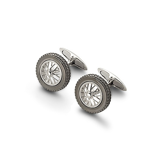Sterling Silver Classic Spoked Wheel Cufflinks from Aspinal of London