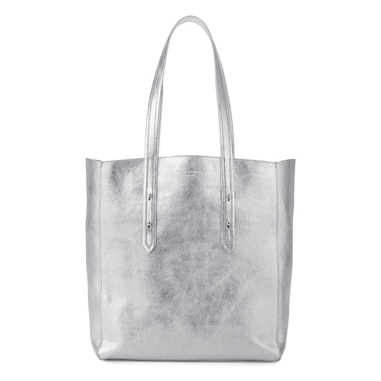 4b62230dd44d5 ... Aspinal Essential Tote in Smooth Metallic Silver from Aspinal of London  ...