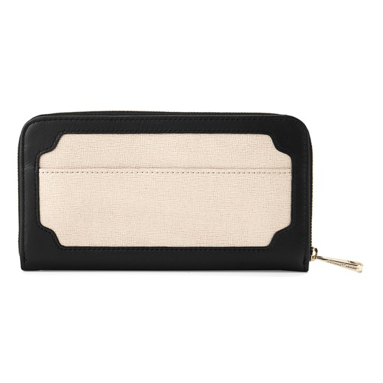 Marylebone Purse in Monochrome Mix from Aspinal of London