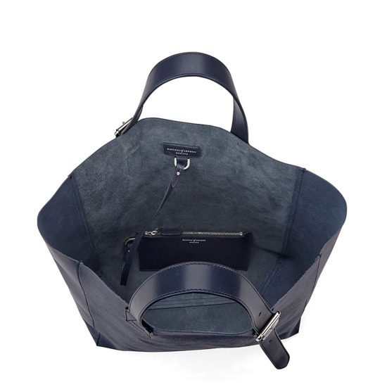 Editor's 'A' Tote in Navy Saffiano from Aspinal of London