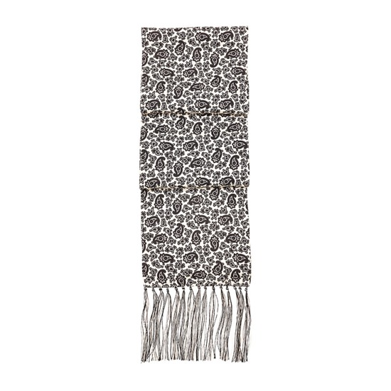 Men's Paisley Silk Scarf in Black from Aspinal of London