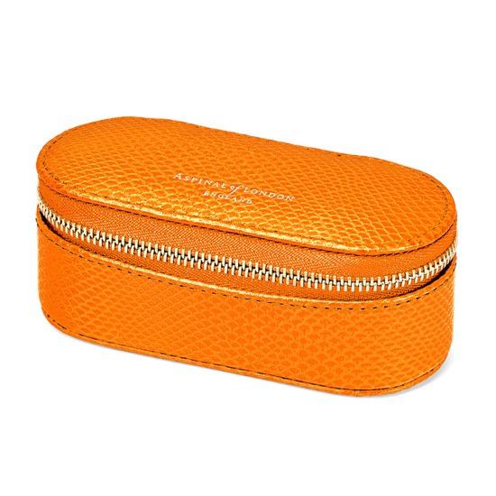 Handbag Tidy All in Orange Lizard from Aspinal of London