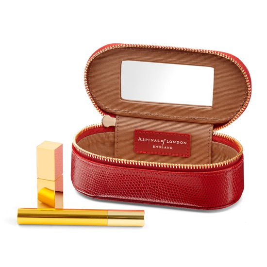 Handbag Tidy All in Berry Lizard from Aspinal of London