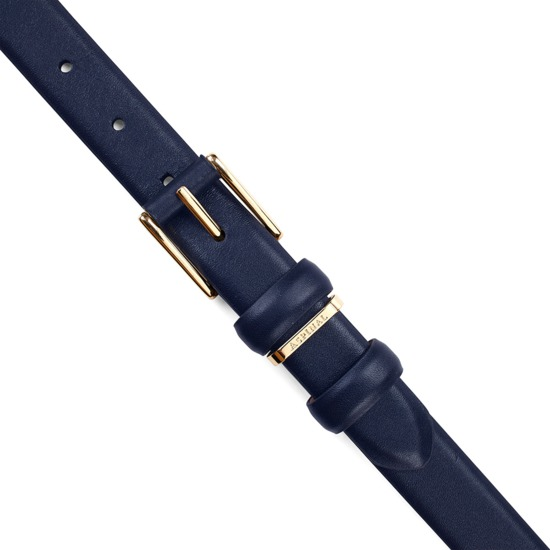 Ladies Westbourne Belt in Smooth Navy from Aspinal of London