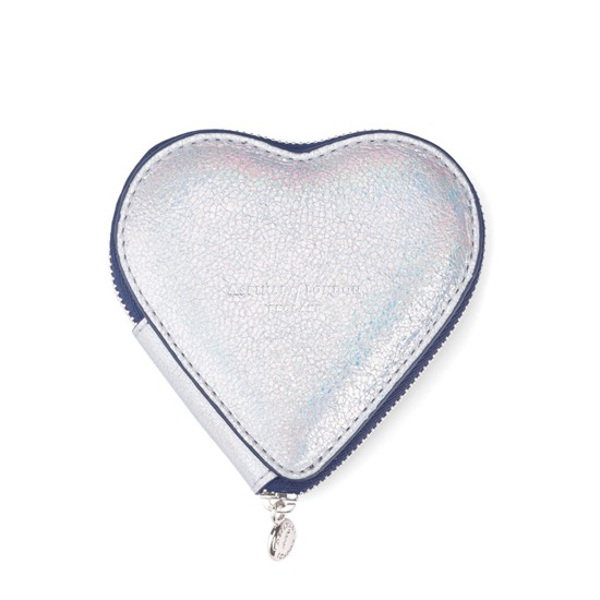 Heart Coin Purse in Smooth Shooting Star from Aspinal of London
