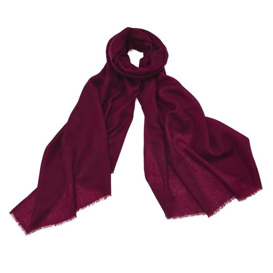 Lightweight Cashmere Scarf in Bordeaux from Aspinal of London