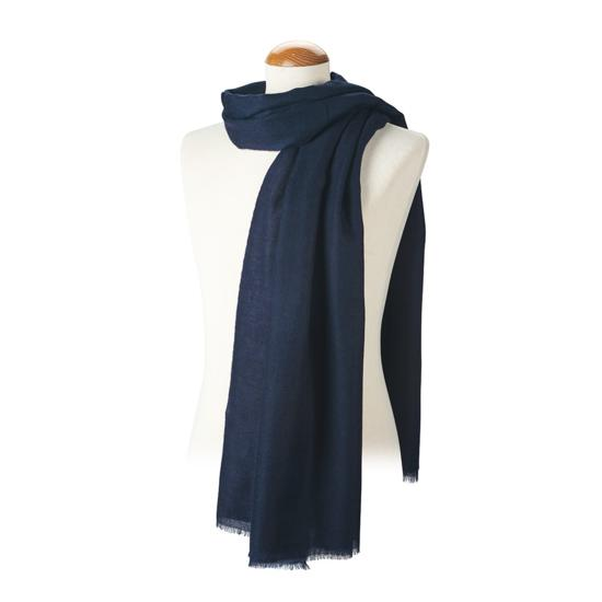 Lightweight Cashmere Scarf in Blue Moon from Aspinal of London