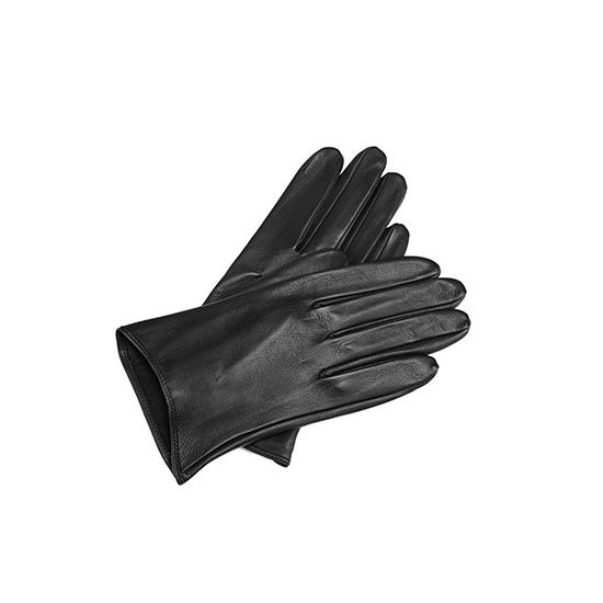 22c982ceedfe9 ... Ladies Short Unlined Leather Gloves in Black Nappa from Aspinal of  London ...