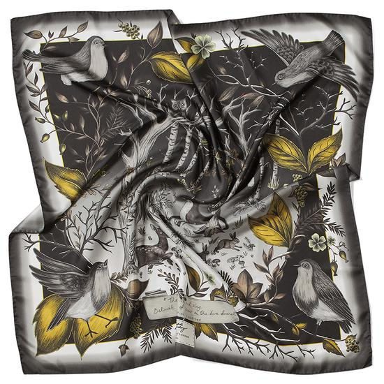 Robin Cashmere Blend Scarf in Black & Gold from Aspinal of London