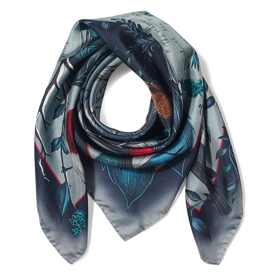 Robin Cashmere Blend Scarf in Midnight Blue from Aspinal of London