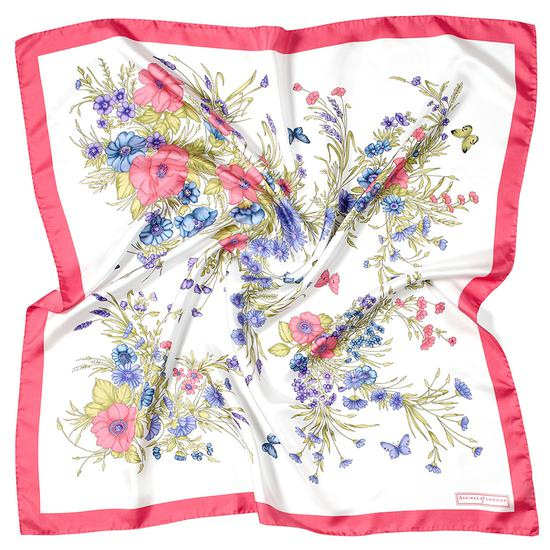 Bouquet of Flowers Silk Scarf in Blossom from Aspinal of London