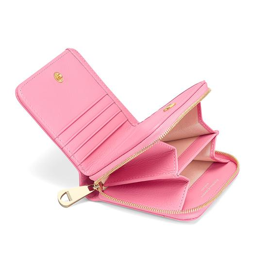 7924d7dc3ae7 ... Mini Continental Zipped Coin Purse in Smooth Blossom from Aspinal of  London ...