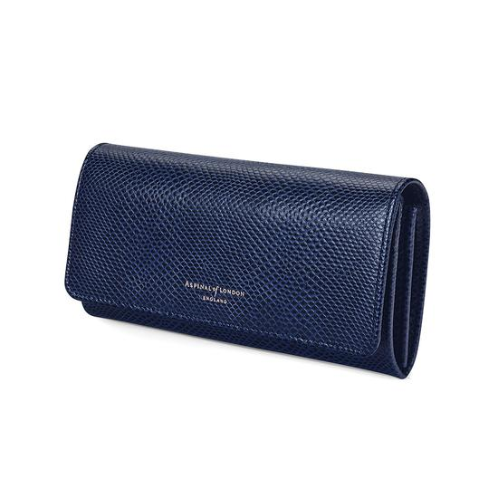 Lottie Purse in Midnight Blue Lizard from Aspinal of London