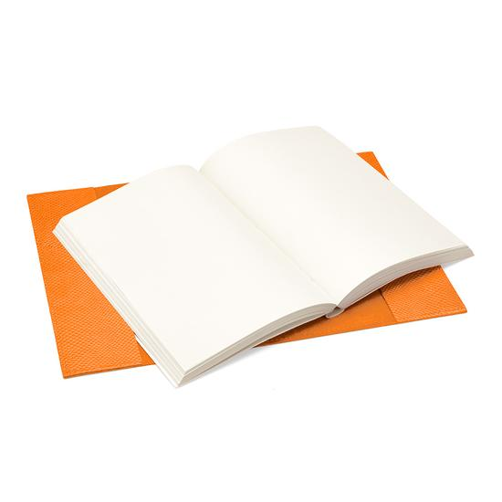 A5 Refillable Journal in Orange Lizard from Aspinal of London
