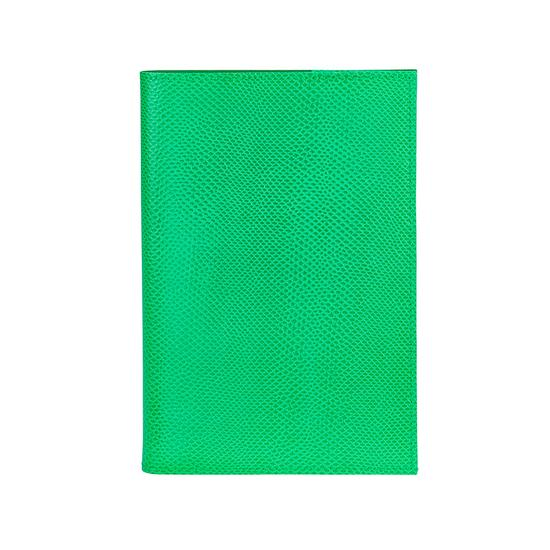 A5 Refillable Journal in Grass Green Lizard from Aspinal of London
