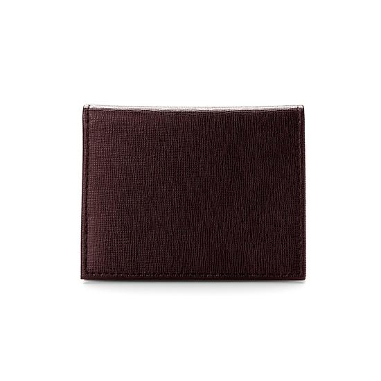 ID & Travel Card Case in Brown Saffiano from Aspinal of London