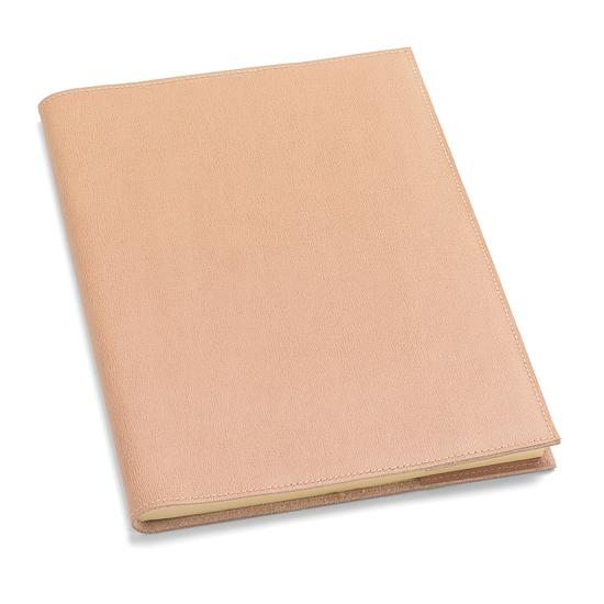 A4 Refillable Leather Journal in Deer Saffiano from Aspinal of London