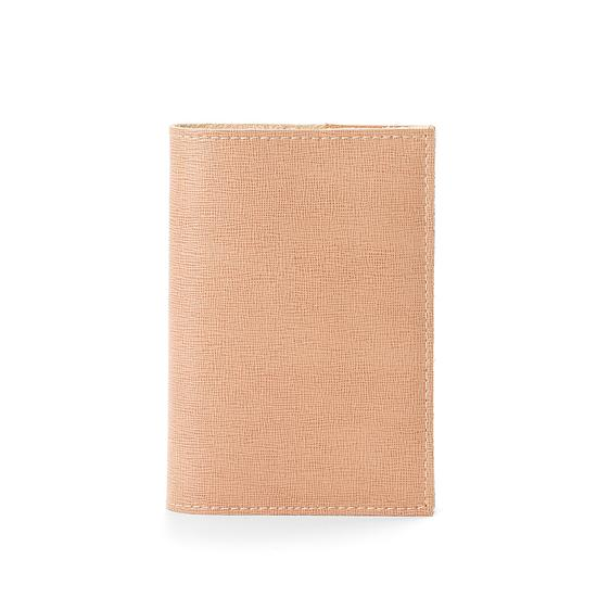 Refillable Pocket Notebook in Deer Saffiano from Aspinal of London