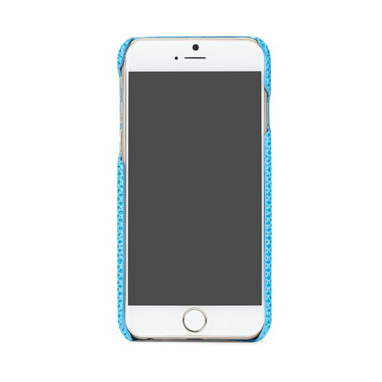 iPhone 7/8 Leather Cover in Aquamarine Lizard & Black Suede from Aspinal of London