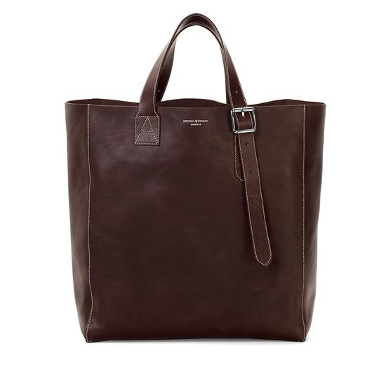 Editor's 'A' Tote in Smooth Brown & Brown Suede from Aspinal of London