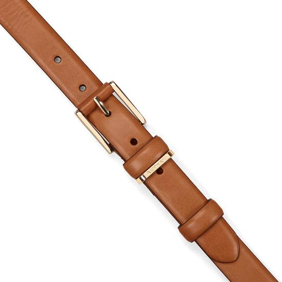 Ladies Westbourne Belt in Smooth Natural Tan from Aspinal of London