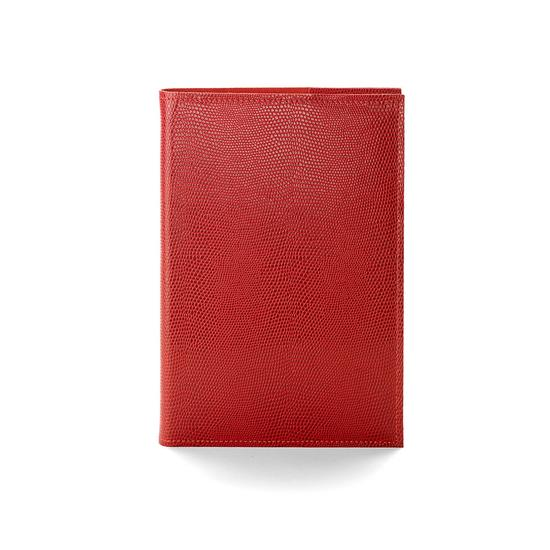 A5 Refillable Journal in Berry Lizard from Aspinal of London