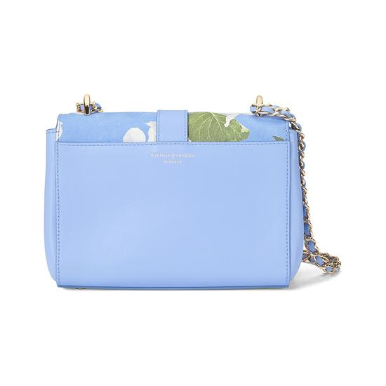 Beautiful Soul Lottie Bag in Smooth Misty Blue & Blossom Print from Aspinal of London