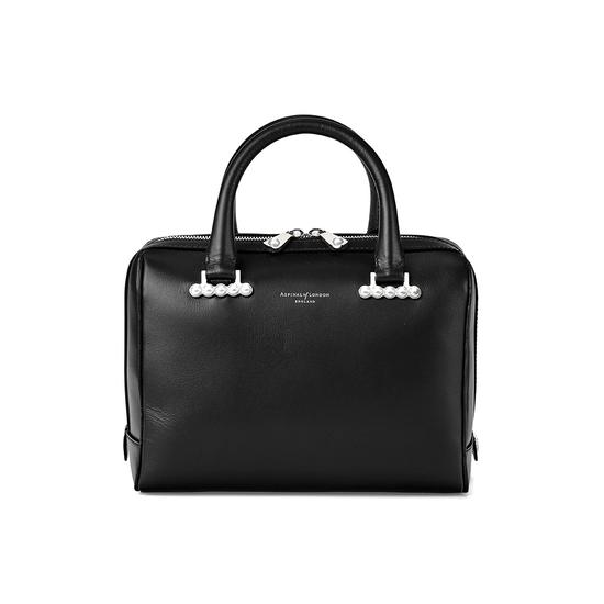 ... Mini Pearl Bowling Bag in Smooth Black from Aspinal of London ...