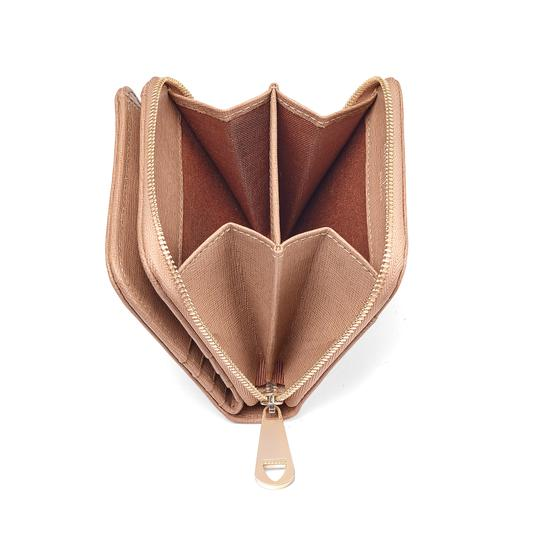 6a6ea53e8f1f ... Mini Continental Zipped Coin Purse in Deer Saffiano from Aspinal of  London ...