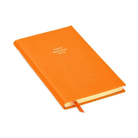 Aspinal Social Diary in Orange Lizard from Aspinal of London