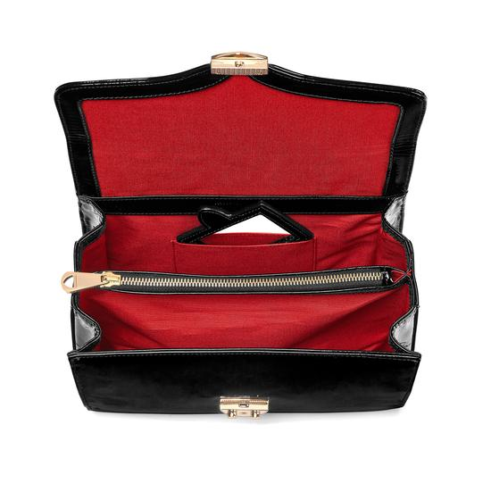 Mayfair Bag in Deep Shine Black Patent from Aspinal of London