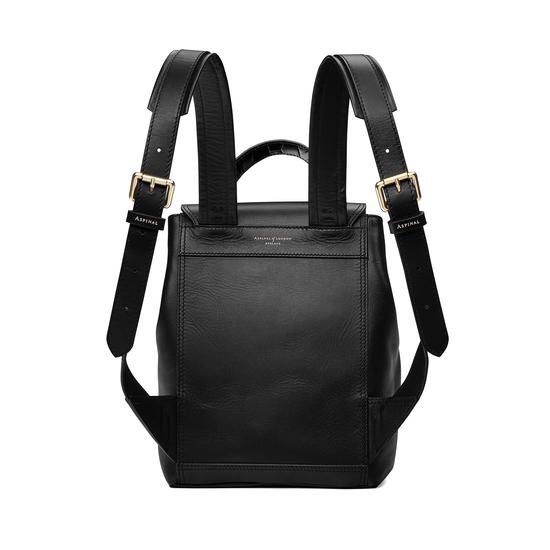 ... Small Oxford Backpack in Smooth Black   Deep Shine Black Croc from  Aspinal of London ... 57cbb9ec4d60e