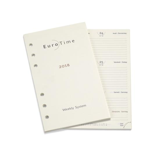 2018 Diary Insert for Compact Personal Organiser from Aspinal of London