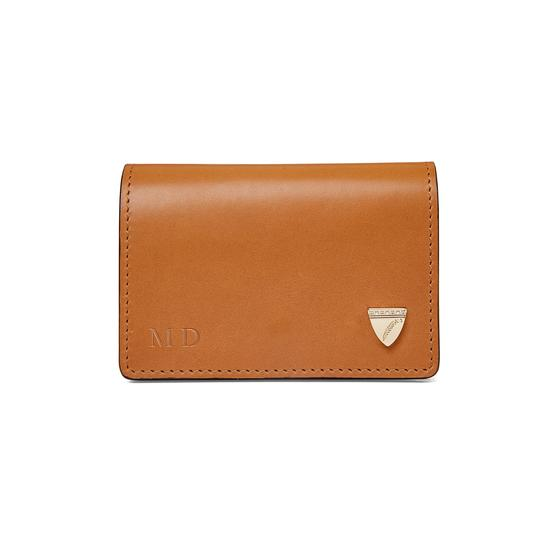 Accordion Credit Card Holder in Smooth Natural Tan from Aspinal of London