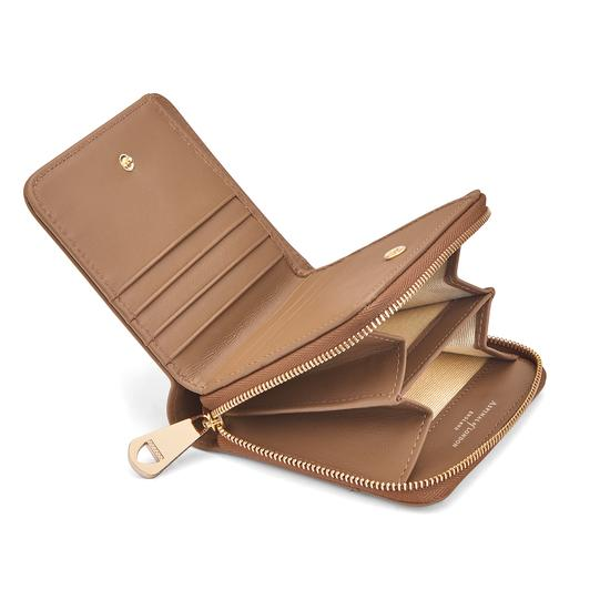Marylebone Mini Purse in Camel Lizard & Smooth Camel from Aspinal of London