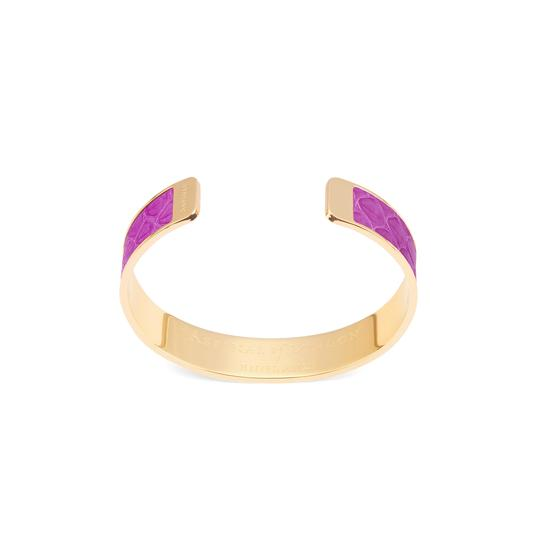 Cleopatra Skinny Cuff Bracelet in Orchid Snake from Aspinal of London