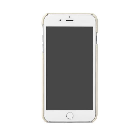 iPhone 7/8 Leather Cover Deep Shine Ivory Small Croc from Aspinal of London
