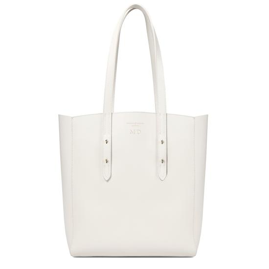 Essential Tote in Smooth Ivory & Navy Suede from Aspinal of London