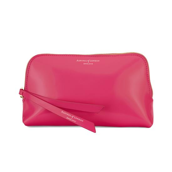 Small Essential Cosmetic Case in Camelia Polish from Aspinal of London