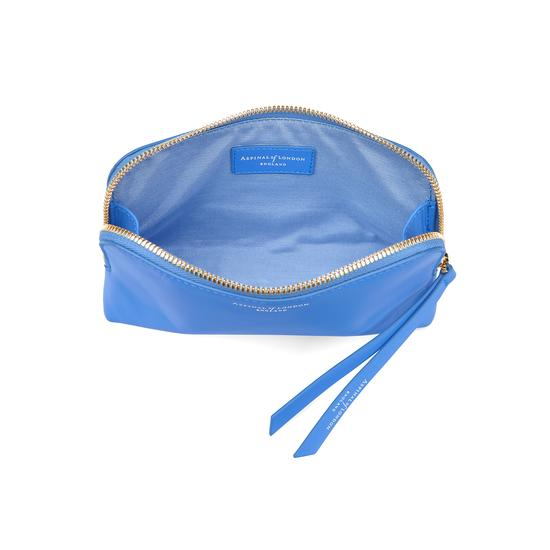 Small Essential Cosmetic Case in Smooth Forget Me Not from Aspinal of London