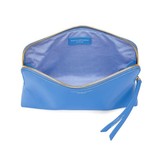 Large Essential Cosmetic Case in Smooth Forget Me Not from Aspinal of London