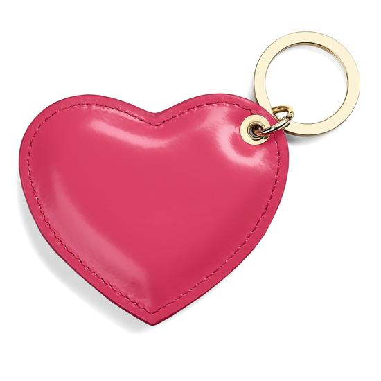 Heart Keyring in Camelia Pink Polish from Aspinal of London